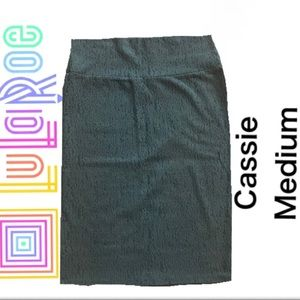 NWT LuLaRoe Moss Green Cassie Skirt